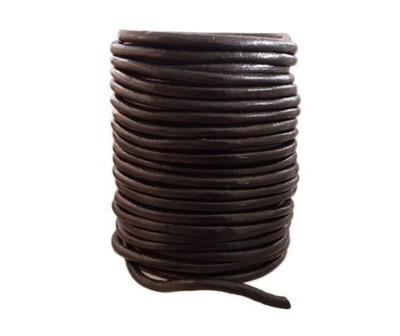 шнурок шнурок кожа fi 5мм Черный