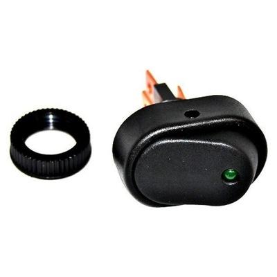 переключатель Универсальный высокой мощности 30A LED зеленый