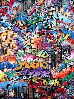 Blue Vanilla SUKIENKA W graffiti 36