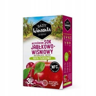 Здоровый Сок 100 % яблочно-Вишневый 3L мутная