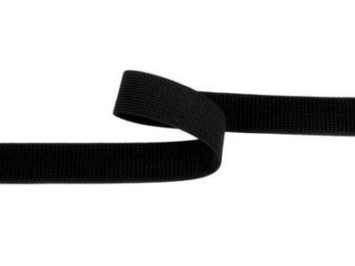 Taśma rzep elastyczny 25mm czarna Pętelka