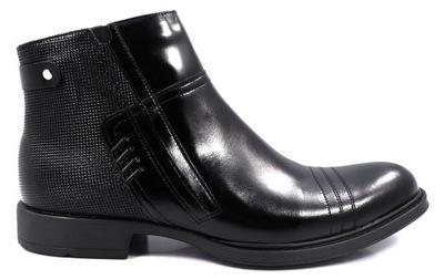 5461a7ca Czarne buty zimowe - trzewiki męskie Faber T76 42