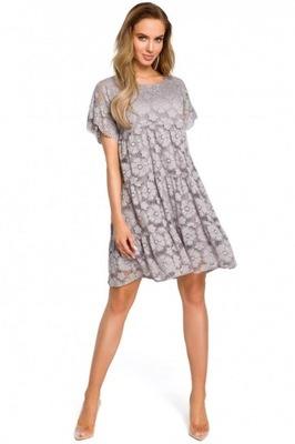 23f88145fa Sukienka koronkowa szary 44 XXL 905724 bonprix - 7650610486 ...