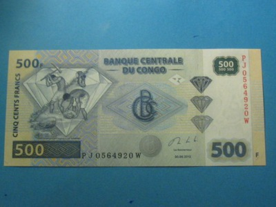 Конго Банкнота 500 Francs 2013 UNC P-96
