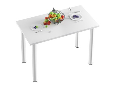 стол СТОЛ Кухня -100x50x18-Белый НОГИ белое