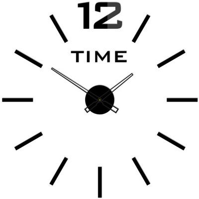 TICHÝ! Nástenné hodiny naklejany LineaV1 LESK