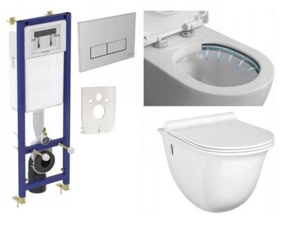 7w1 RÁM MISA WC + PALUBE WOLNOOPADAJĄCA slim