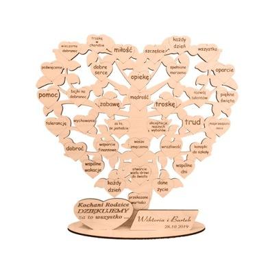 благодарность ?????????? Дерево -сердце -36 сердца