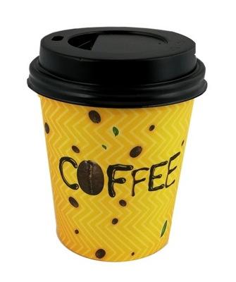 Стаканчики Бумажные для Кофе, 250 мл + крышки 100 штук