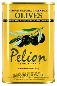 PELION, Оливки черные  Large из Греции, 430g