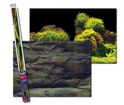 фон для аквариум 2 фото-обои ROCK/PLANTS S 60x30