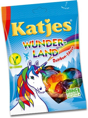 Katjes Wunder Land Rainbow драже фруктовые 200г