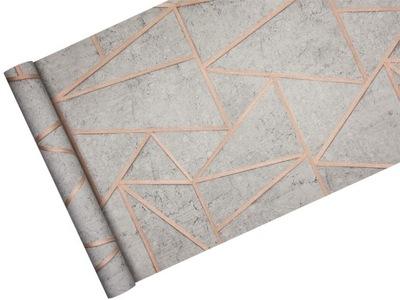 Обои ГЕОМЕТРИЧЕСКАЯ бетон Медь в стиле SOHO