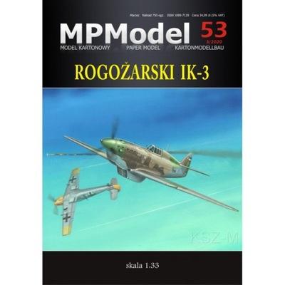 MPModel 53 Samolot myśliwski Rogozarski IK-3 1:33