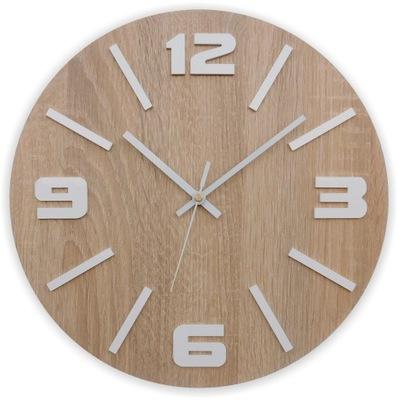 Тихий деревянный часы настенный Дуб сонома 50CM Nj18