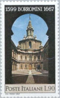 Włochy 1967 Znaczek Mi 1240 ** Borromini architekt