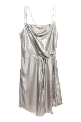 H&M Metaliczna sukienka rozm. 40, L