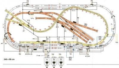 Планы макетов железнодорожных H0,TT схемы Электрические