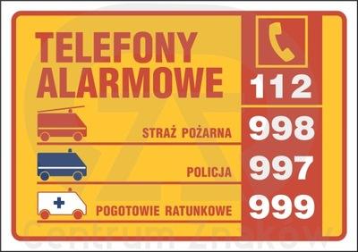 Табличку телефонов служб экстренной помощи