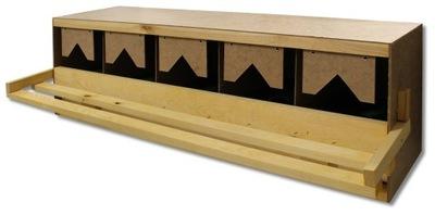 Гнезда для кур карликовых 5 мест с ящиком