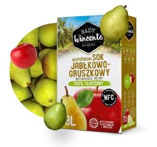Сок 100 % Яблоко-груша 3Л. холодного отжима