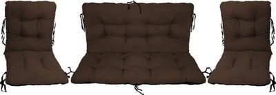 Подушки на мебель Ротанг РОТАНГА комплект 2 +1 бронза