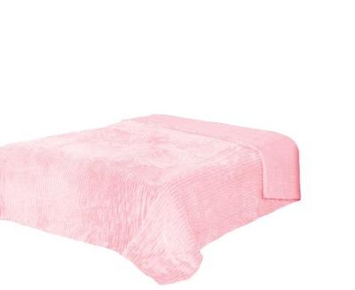 Deka - prehoz cez posteľ 200x220 prachový plyšové ruže + medveď