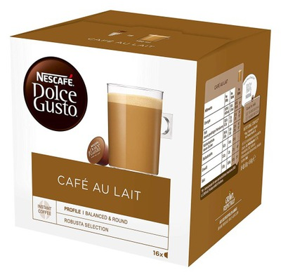 капсулы Nescafe Dolce Gusto Cafe Au Lait 16 штук