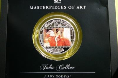 20 $ 2013- MASTERPIECES OF ART-ЛЕДИ ГОДИВА - КОЛЬЕР