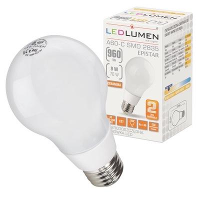 Лампа A60 E27 9 ВТ=70 ВТ LED 960lm CCD Керамическая