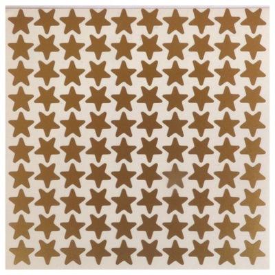 звезды золотые наклейки пленка 10 /100шт