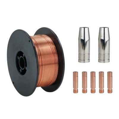 Drut spawalniczy stalowy MIG 0,8 SG2 zestaw części