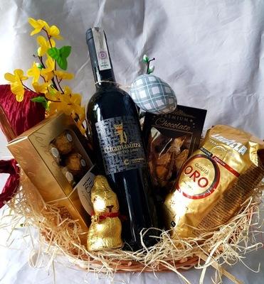 Корзина с подарками комплект с подарками именины вино