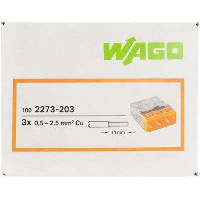 WAGO быстроразъемное соединение на проволока оригинальная 3x2,5 100шт