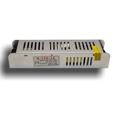 Блок питания для лент, ленты LED 12 в ПОСТОЯННОГО тока  10A 120W SLIM
