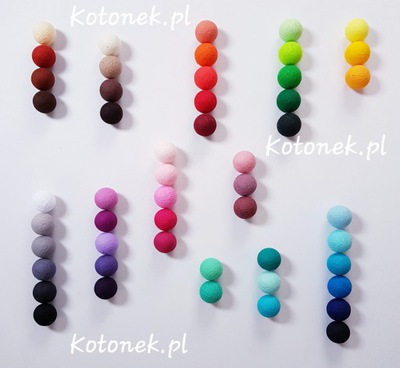 Oryginalne COTTON BALLS 30 kul dowolne kolory