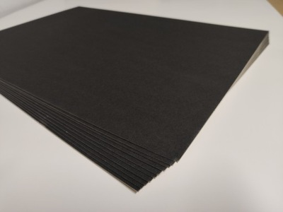 картон черная 1 ,2мм моделируя A3 10 ark Black
