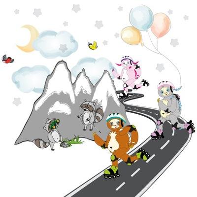 samolepky na stenu pre deti leňochy hory 240