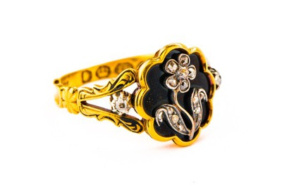 АНТИКВАРНЫЕ  кольцо - 18K 4 ,16g - 1837 ???
