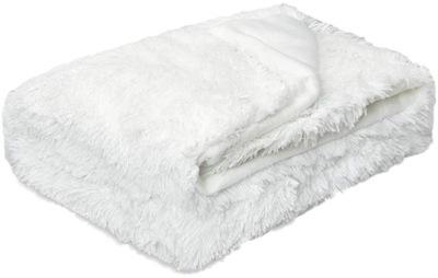 одеяло WŁOCHACZ комочек шерсти ПОКРЫВАЛО 220x240 Белый