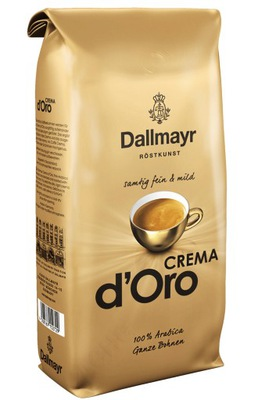 кофе в зернах Dallmayr КРЕМЕ D ОРО 1 кг