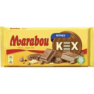 Marabou KEX шоколад вафли соль морская нуга 185g