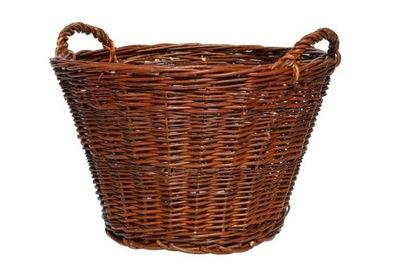 Koszyk wiklinowy na drwno wiklina liście ⌀ 45 cm
