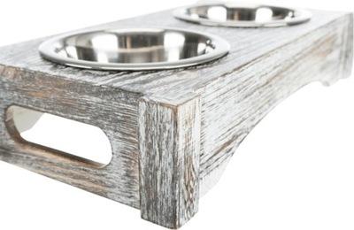 комплект мисок стойке Нержавеющая сталь 2х0,2л -24356