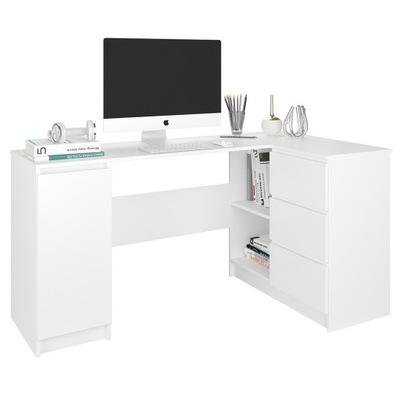Мебель письменный Стол угловые компьютер 3 ??  124cm белое N12