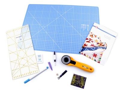 Пэчворк, лоскутное шитье комплект начальный 9 элементов