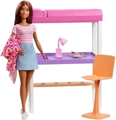 LALKA BARBIE MEBELKI łóżko + biurko dla Barbie