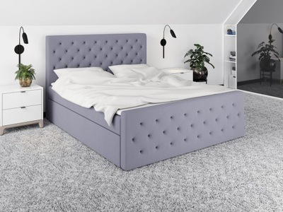 кровать обиты ALVA каркас + матрас 120х200
