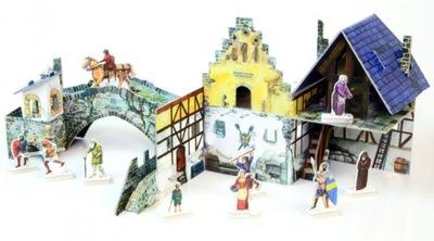 Модель из бумаги Средневековый Мост и Дом Умный