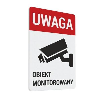 Naklejka - Obiekt Monitorowany 10x15